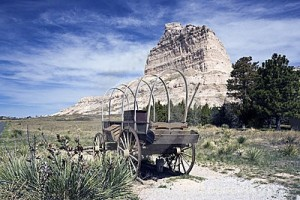 Photo on Oregon Trail, Scott's Bluff, NE, supplied by LaDene Morton