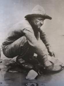 Panning for gold, California, 1850. Photo by L.C. McClure.