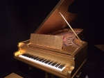 Elvis Presley's gold Steinway at Country Music Hall of Fame