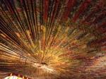 The ceiling in Elvis' media room