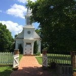 Peace Church in the village at Boone Homestead