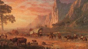 The Oregon Trail by Alfred Bierstadt