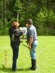 Learning archery in Montana