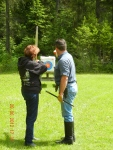 Learning archery in Montana