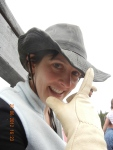 My daughter Cristal, ready to ride
