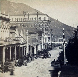 Virginia City-View on C street by Carleton E Watkins, 1829-1916.